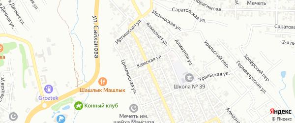 Камская улица на карте Грозного с номерами домов