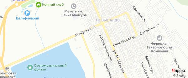 Цимлянская улица на карте Грозного с номерами домов