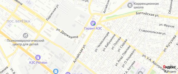 Алтайская улица на карте Грозного с номерами домов