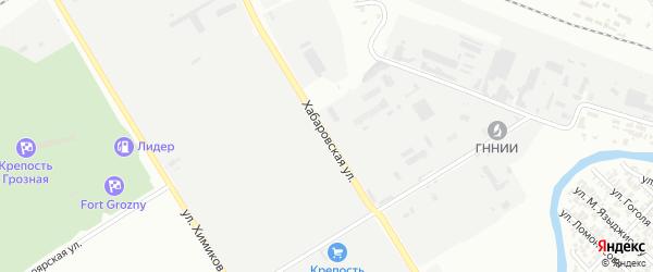 Хабаровская улица на карте Грозного с номерами домов