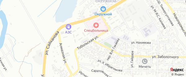 Тобольская улица на карте Грозного с номерами домов