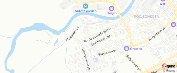 Ищерская улица на карте Грозного с номерами домов