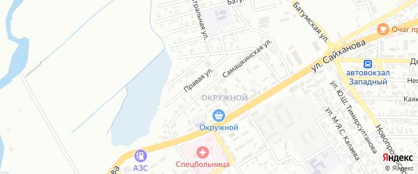 Самашкинская улица на карте Грозного с номерами домов