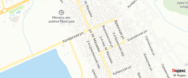 Улица М.Мазаева на карте Грозного с номерами домов