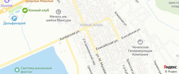 Улица М.Мазаева на карте поселка Гикало с номерами домов
