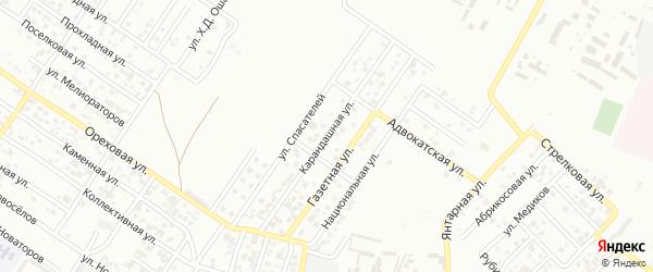 Газетная улица на карте Грозного с номерами домов
