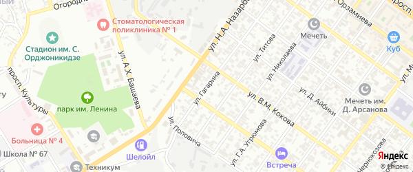 Улица им Гагарина на карте Грозного с номерами домов