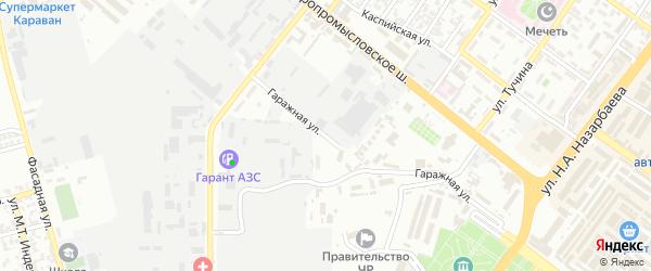 Гаражная улица на карте Грозного с номерами домов