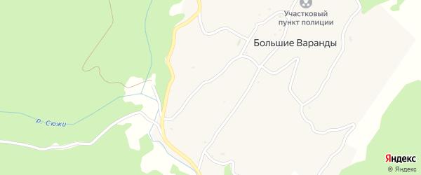 Центральная улица на карте села Большие Варандов с номерами домов