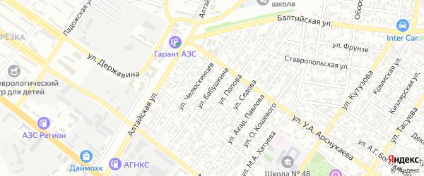 Улица Бабушкина на карте Грозного с номерами домов