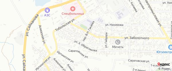 Цимлянский 5-й переулок на карте Грозного с номерами домов