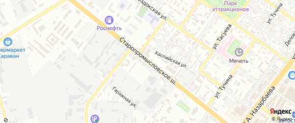 Улица Старопромысловское шоссе на карте Грозного с номерами домов