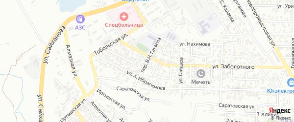Окружной 3-й переулок на карте Грозного с номерами домов