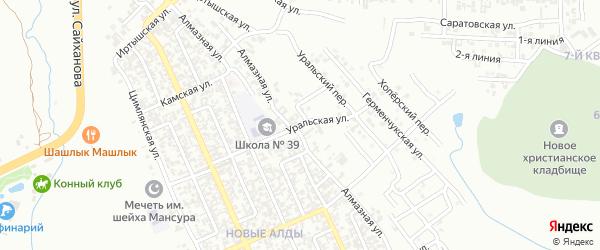 Уральская улица на карте Грозного с номерами домов