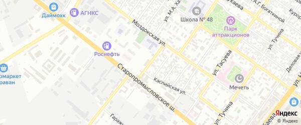 Мнусская улица на карте Грозного с номерами домов
