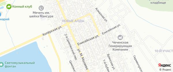 Воронежская улица на карте Грозного с номерами домов