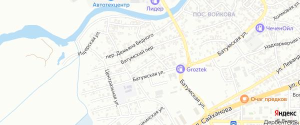 Тупиковая улица на карте Грозного с номерами домов