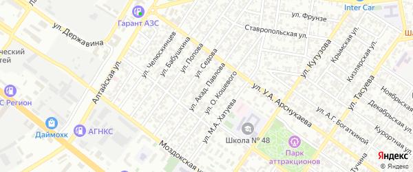 Улица им академика Павлова на карте Грозного с номерами домов