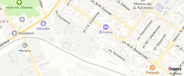 Улица Поповича на карте Грозного с номерами домов