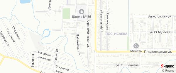 Агрономическая улица на карте Грозного с номерами домов