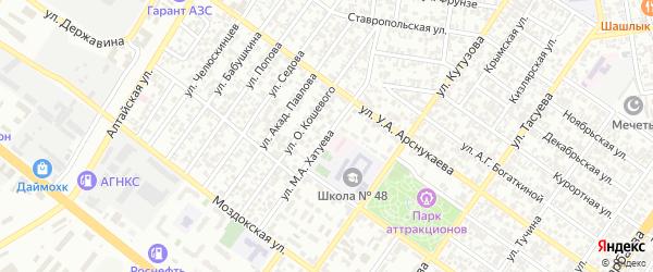 Улица имени Хатуева Молди Аюбовича на карте Грозного с номерами домов