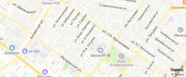 Улица им А.А.Иналова на карте Грозного с номерами домов