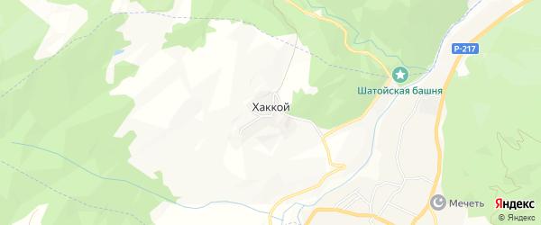 Карта села Хаккоя в Чечне с улицами и номерами домов