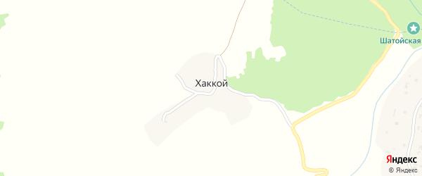 Улица Евмирзы Абдулхажиева на карте села Хаккоя с номерами домов