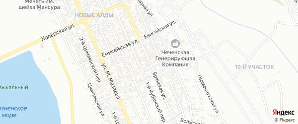 Брянская улица на карте Грозного с номерами домов