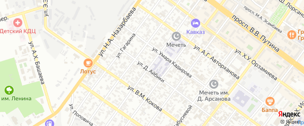 Улица Николаева на карте Грозного с номерами домов