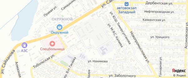 Улица М-Я.С.Калаева на карте Грозного с номерами домов