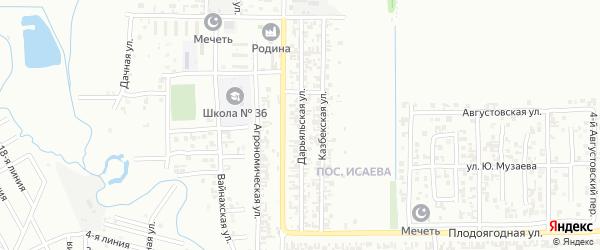 Дарьяльская улица на карте Грозного с номерами домов