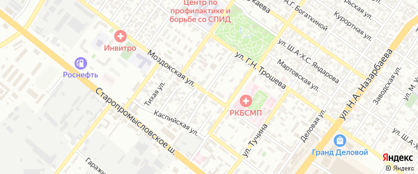 Серноводская улица на карте Грозного с номерами домов
