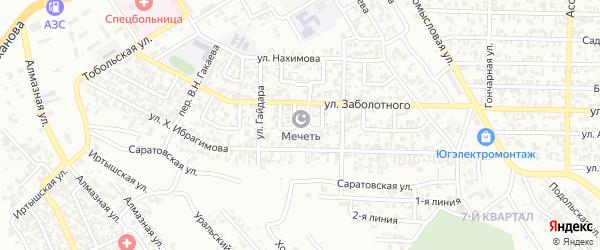 Заболотного 1-й переулок на карте Грозного с номерами домов