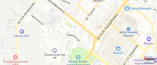 Трамвайный 1-й переулок на карте Грозного с номерами домов
