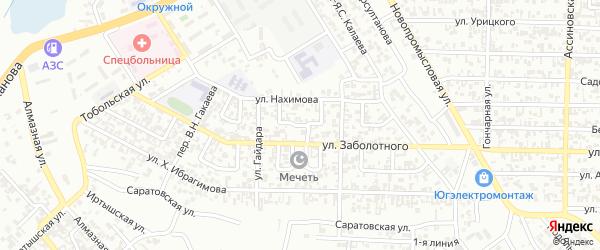 М.Мазаева 1-й переулок на карте Грозного с номерами домов