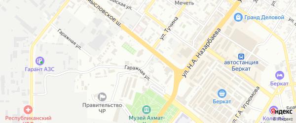 Донецкий 1-й переулок на карте Грозного с номерами домов