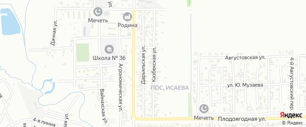 Казбекская улица на карте Грозного с номерами домов
