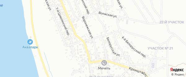Морская улица на карте Грозного с номерами домов