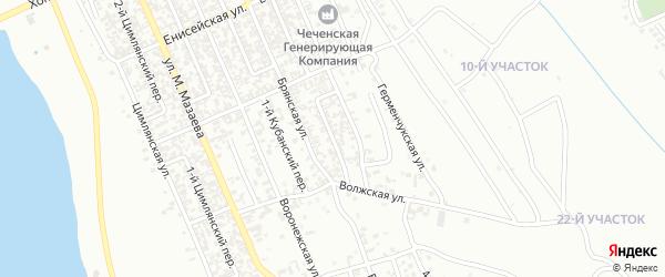 Алмазный 1-й переулок на карте Грозного с номерами домов