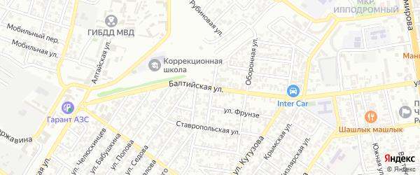 Балтийская улица на карте Грозного с номерами домов