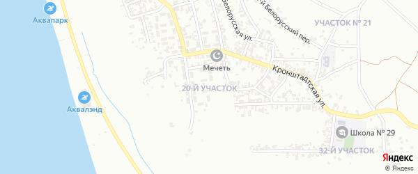 20-й участок на карте Грозного с номерами домов