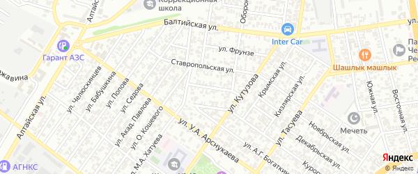 Днепровская улица на карте Грозного с номерами домов