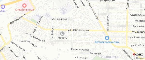 Улица Заслонова на карте Грозного с номерами домов