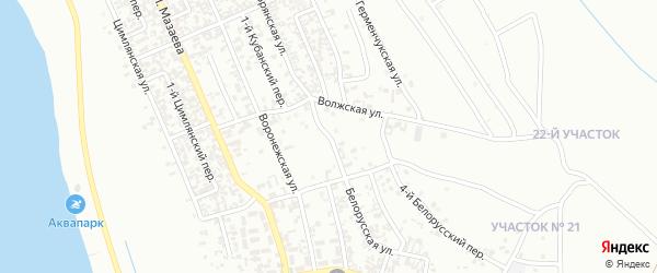 Белорусская улица на карте Грозного с номерами домов