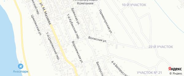 Волжская улица на карте Грозного с номерами домов