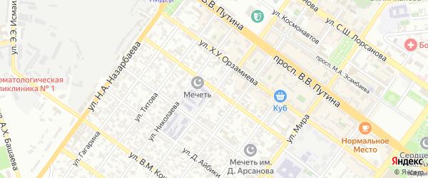 Улица А.Г.Авторханова на карте Грозного с номерами домов