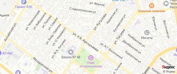 Улица Кутузова на карте Грозного с номерами домов