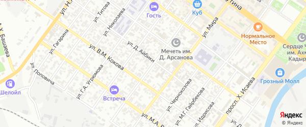 Улица им Хабусиевой Нурседы Б на карте Грозного с номерами домов
