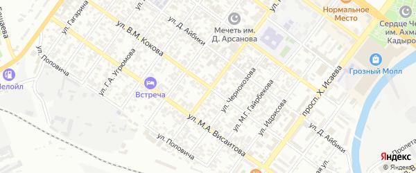 Улица имени Адама Байсултанова на карте Грозного с номерами домов